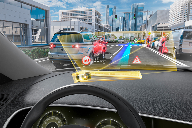Dieses Head-up-Display beugt das Licht